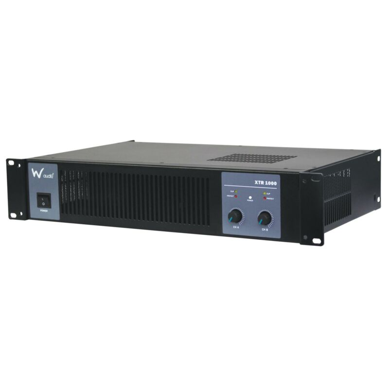 W Audio XTR 1000 Amplifier DC detection and thermal protection.