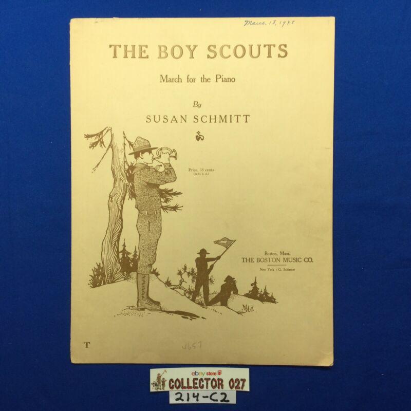 Boy Scout Sheet Music The Boy Scouts March For Piano By Susan Schmitt