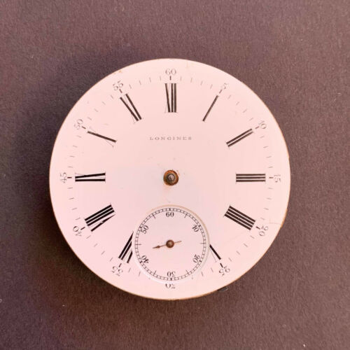Vintage Longines Pocket watch Movement and dial - for parts or repair