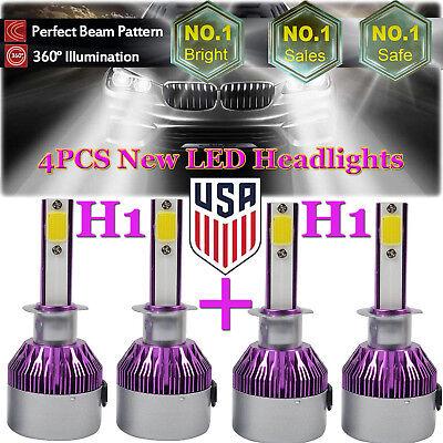 4X H1 2160W LED CAR HEADLIGHT KITS High + Low Beam Combo Bulbs 6000K Replacement