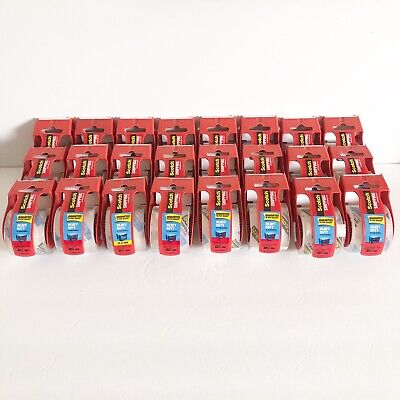 Lot Of 24 Scotch Brand Heavy Duty Packaging Shipping Tape Rolls With Dispenser