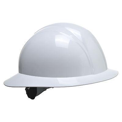 Portwest PW Full Brim Future White Hat Helmet  PS52