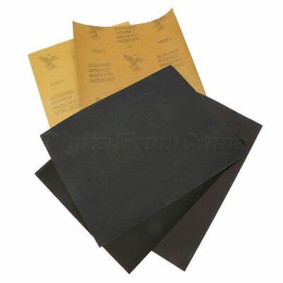 5pcs Waterproof Abrasive Paper Sandpaper Grit P600 P1000p1500p2000 Rectangular