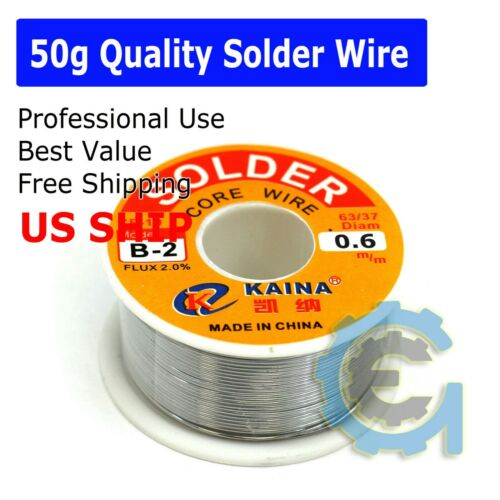63/37 Tin Lead Line Soldering 0.6mm Rosin Core Solder Flux Welding Wire Reel Hot