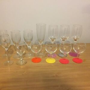 Assorted Wine Drinking Glasses