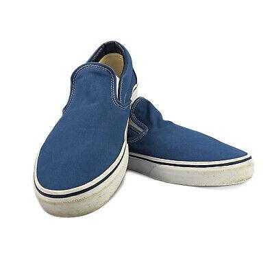 Vans Classic Slip-On Core Classics Shoes Navy Blue Canvas Men's 10.5 Women's 12