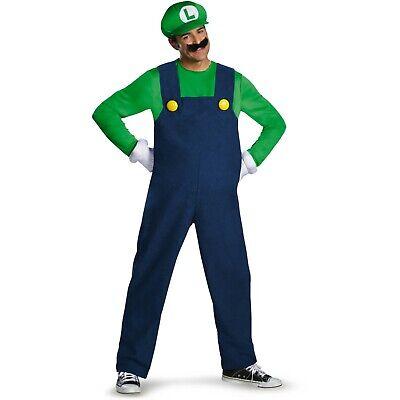 NWT World of Nintendo Super Mario Luigi DELUXE Adult Costume Disguise XXL - Mario World Kostüm