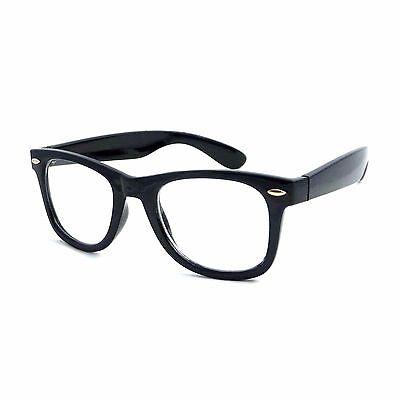 THICK Horn Rim Retro Men Women Frame Trendy Clear Lens Eye Glasses (Thick Rimmed Glasses For Men)