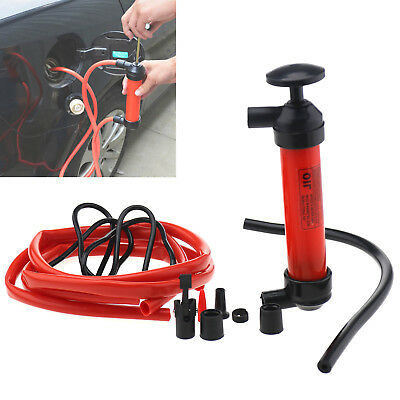 Fuel Transfer Syphon Pump Car Vehicle Petrol Diesel Water Portable Hand Pumps
