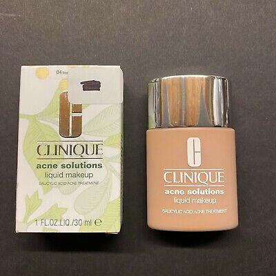 Clinique Acne Solutions Liquid Makeup 04 Fresh Vanilla (MF) 1oz/30ml
