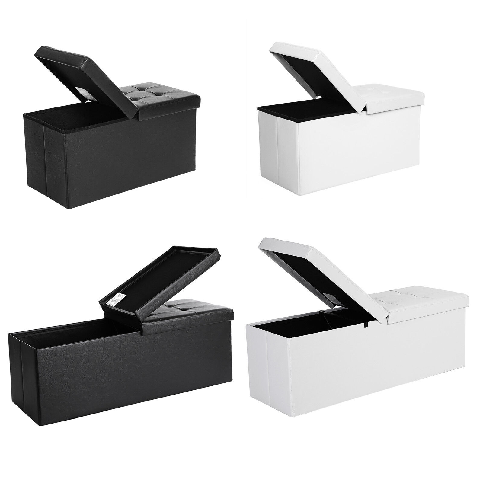 SONGMICS Faltbar Sitzhocker Sitzbank Aufbewahrungsbox +Stauraum Spielzeugkiste