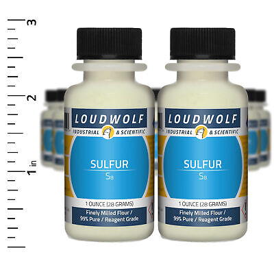 Sulfur 1.3 Lb Total 20 Bottles Reagent Grade Finely Milled Flour Usa Seller