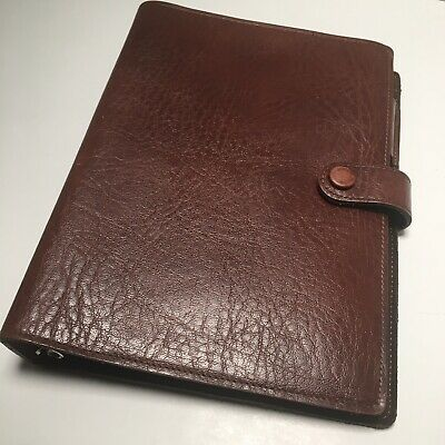 Day Runner Brown Leather 3 Ring Classic Size Planner Organizer