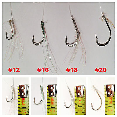 #8 L.S FISH SKIN SABIKI BAIT FISHING Herring Mackerel Sardine LURE RIGS 50 PACKS