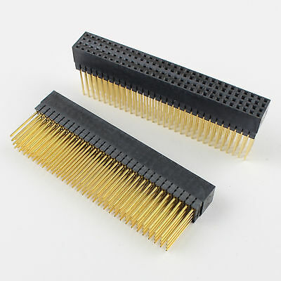 2pcs 2mm 4x30 Pin 120 Pin Female Four Rows Straight Long Pin Header Strip