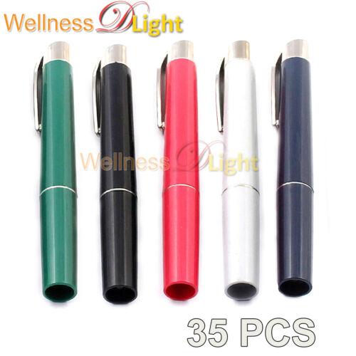 Wdl New 35 Pcs Penlights Diagnostic Ent Emergency Medical-assorted Colors