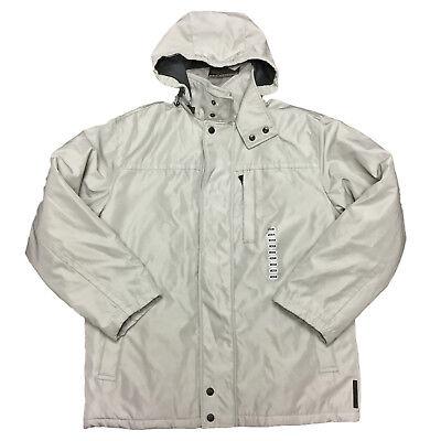 Weatherproof Men's Ultra Tech Rain Heavy Long Sleeve Full Zip Hooded Jacket Weatherproof Adult Zip Sleeve