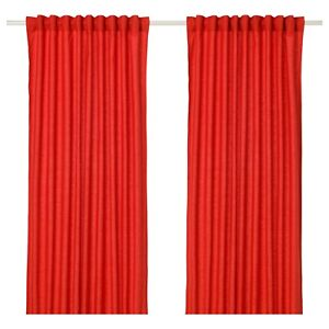 Ritva | red curtains | Rideaux rouge