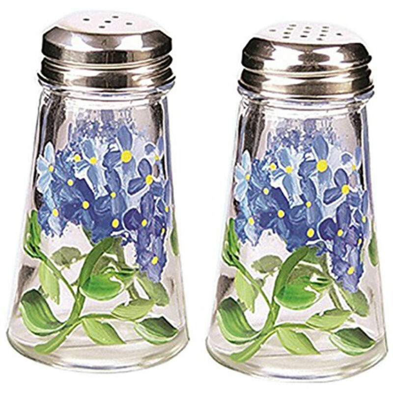 Grant Howard 39042 Salt and Pepper Shaker Set Hand Painted with Hydrangeas, Blue