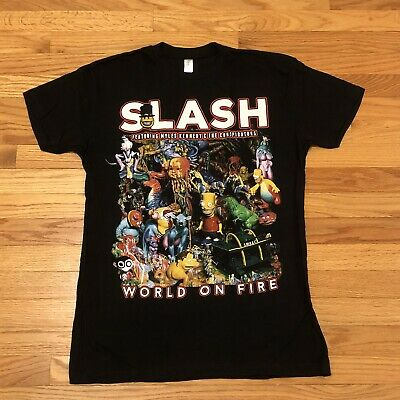 Slash Personally Owned World On Fire Tour Shirt myles kennedy
