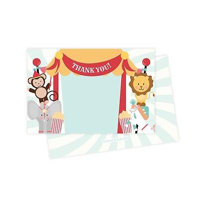 Circus Thank You Cards 25 Ct w/ Envelopes & Seals Stickers Birthday Party](Birthday Thank You Cards)