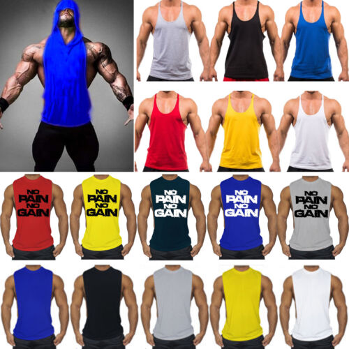 Men's Gym Bodybuilding Stringer Tank Top Muscle Workout Spor