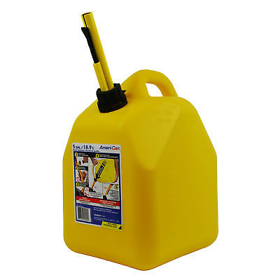Scepter 00004 Yellow 5 Gallon Diesel Fuel Gas Storage Tank Container Jerry Can
