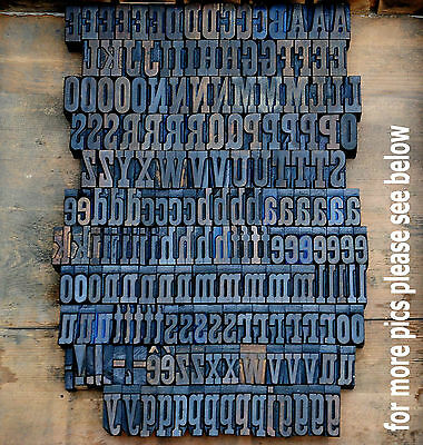 Letterpress Wood Printing Blocks 191 Pcs 1.18 Tall Alphabet Type Woodtype Abc