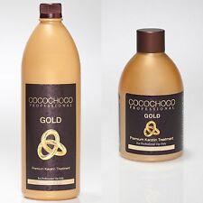 COCOCHOCO GOLD BRAZILIAN KERATIN TREATMENT BLOW DRY HAIR STRAIGHTENING KIT + OPT