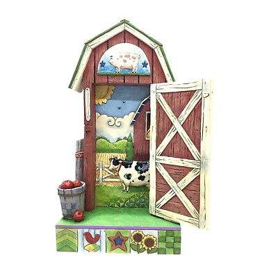 Jim Shore Barn Door/Country Farm Scene Heartwood Creek Country Roads Lead Here