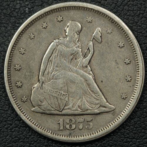 1875 S Silver Twenty Cent Piece - Cleaned