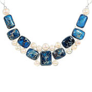 Blue Akoya Pearl Necklace