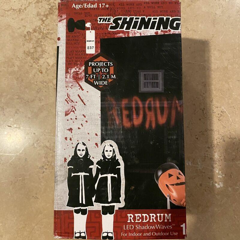 REDRUM The Shining Halloween Projector Light Movie Murder Red Outdoors Pumpkin