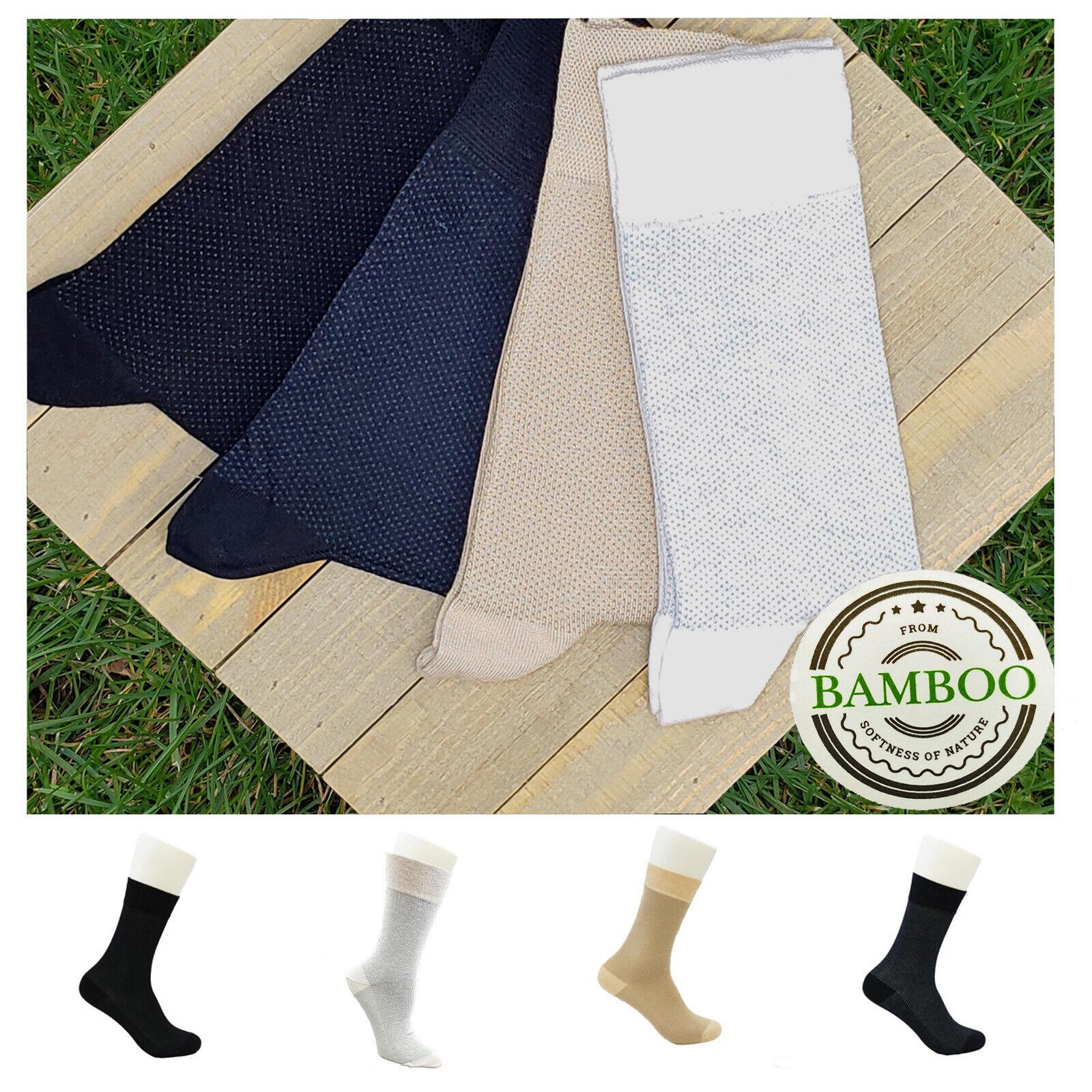 Pique BAMBOO SOCKS for MEN & WOMEN - Soft - Seamless - Antib