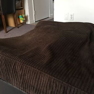 Brown sectional couch with pull out bed Kitchener / Waterloo Kitchener Area image 4