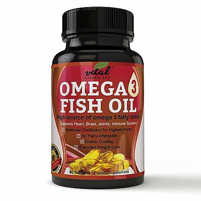 Omega 3 Fish Oil Triple Strength 2000 Mg Supplement W  800 Epa   600 Dha