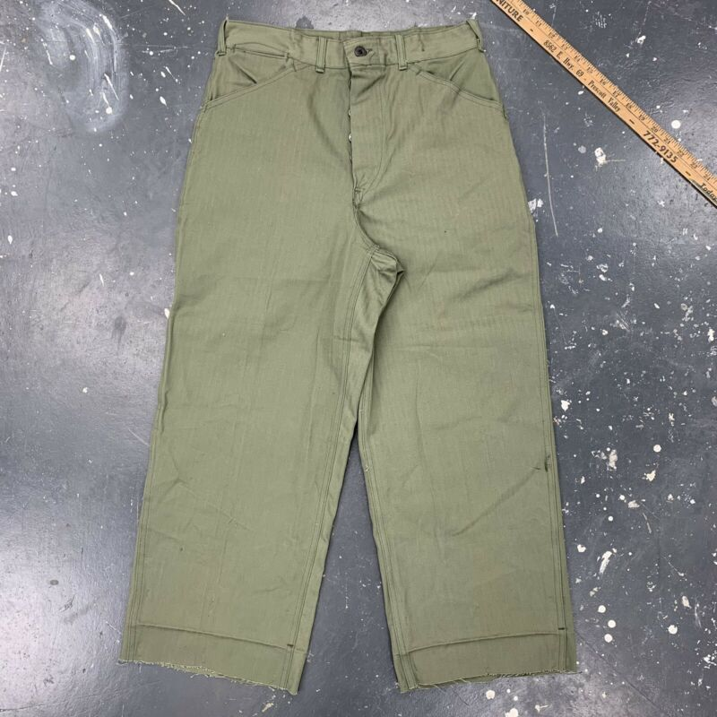 USMC P41 Trousers HBT Cut Raw Hem Shants Grunt Fashion NOS Deadstock Short Pants