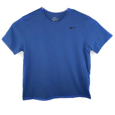 Nike Shirt Mens The Nike Tee Athletic Cut Blue Running Workout Crossfit XXL