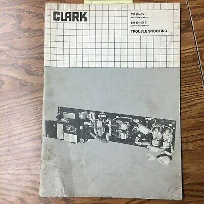 Clark Troubleshooting Service Repair Manual Electric Fork Lift Truck Guide Book