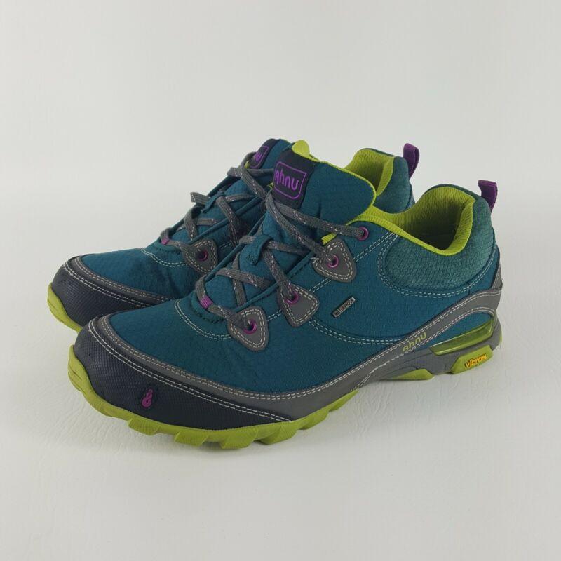 Ahnu Sugarpine WP Vibram Sole Womens Deep Teal Hiking Shoes 9.5 - AF2421DPTL