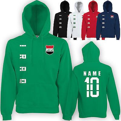 Irak Iraq Hoody Kapuzen Pullover Trikot mit Name & Nummer S M L XL XXL