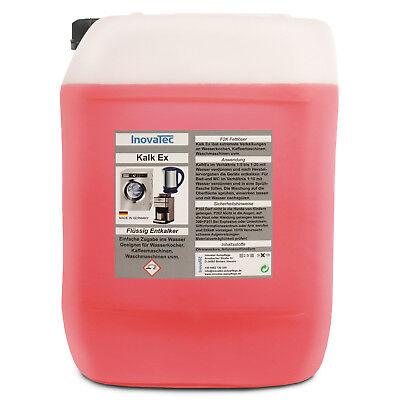 10 Liter KalkEX - Kalklöser flüssig Entkalker mit Zitronensäure Schnellentkalker