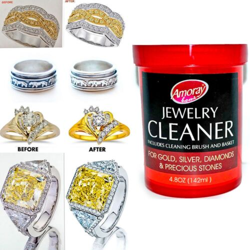 Jewelry Cleaner Solution Cleans all Jewelry Gold Silver & Diamonds