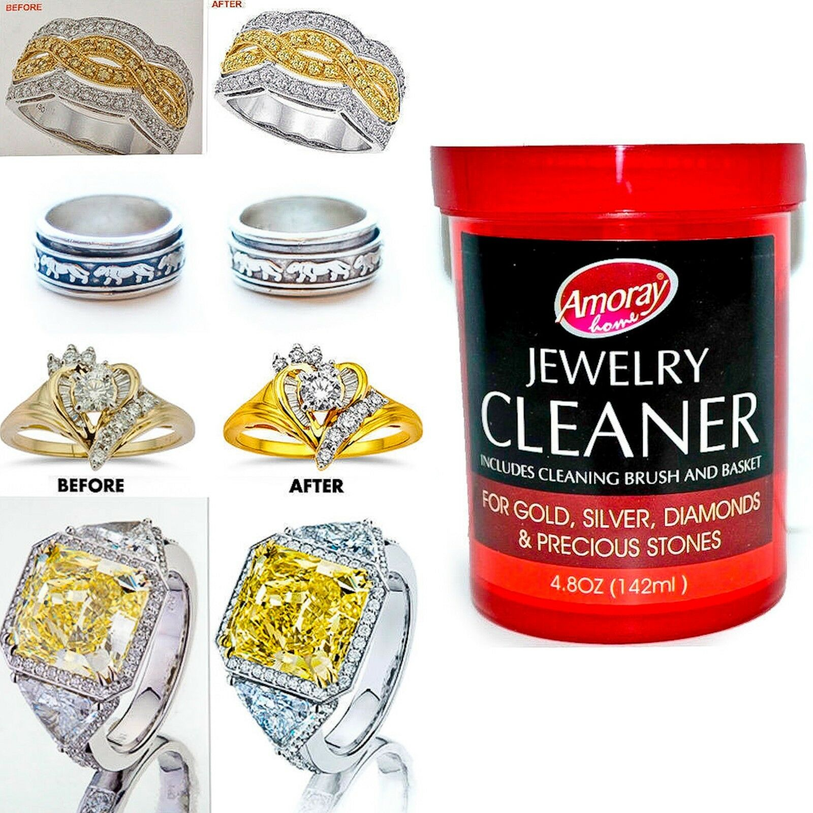 Jewelry Cleaner Solution Safely Clean all Jewelry Gold Silve