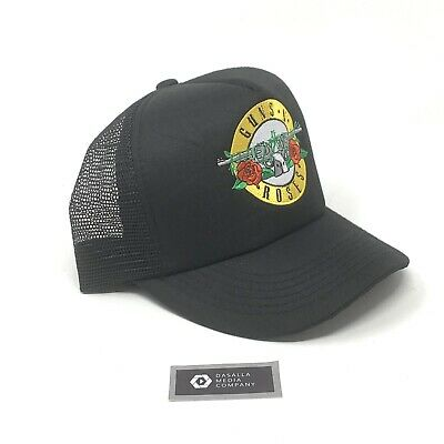 Guns N Roses Snapback Mesh Trucket Hat, Adult One Size Fits All, Black