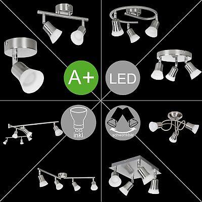 FineBuy LED Deckenlampe A+ Dimmbar Lampe Warmweiß Drehbar Deckenstrahler Silber ()