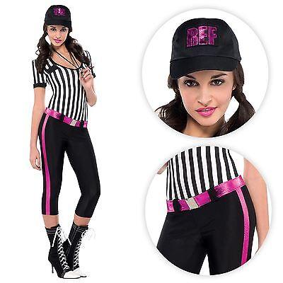 Damen Sexy Schiedsrichter Sport Footie Fußball Whistle Maskenkostüm ()