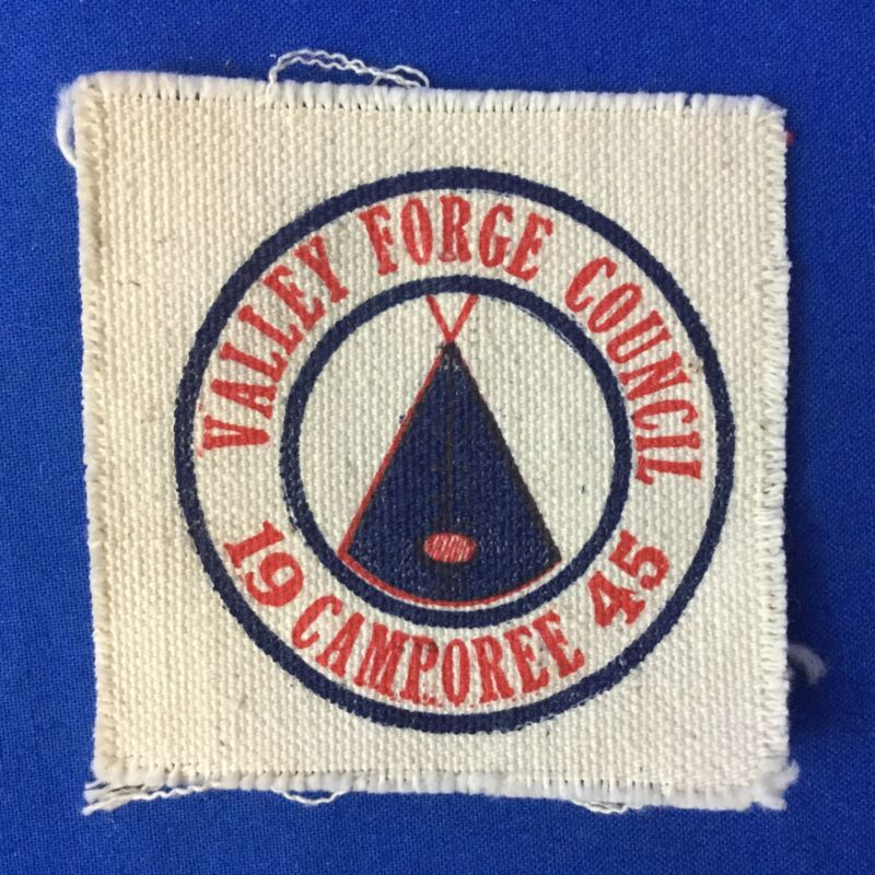 Boy Scout 1945 Valley Forge Council Camporee Canvas Patch