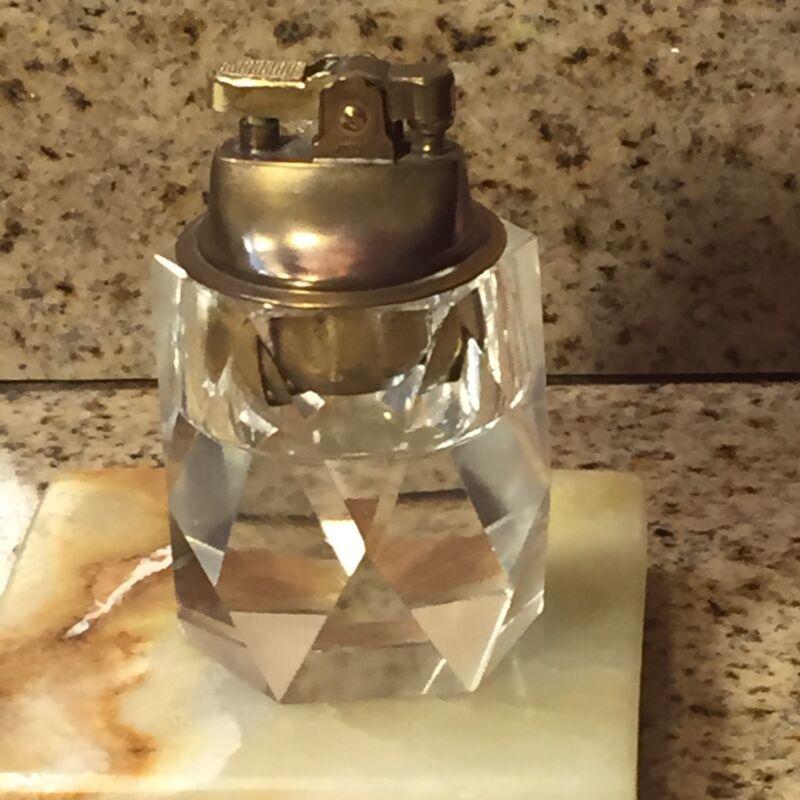 CRYSTAL Vintage Table Lighter Solid Hand Cut