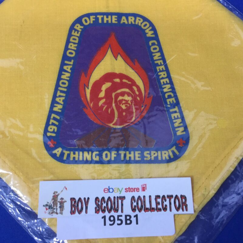 Boy Scout Neckerchief 1977 NOAC National Order Of The Arrow Conference